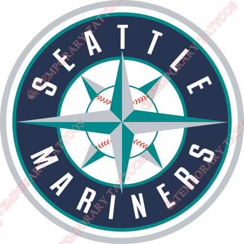Seattle Mariners Customize Temporary Tattoos Stickers NO.1925