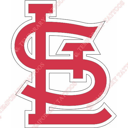 St. Louis Cardinals Customize Temporary Tattoos Stickers NO.1931