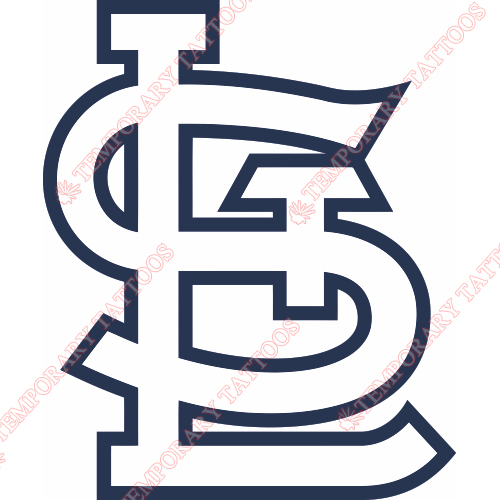 St. Louis Cardinals Customize Temporary Tattoos Stickers NO.1932