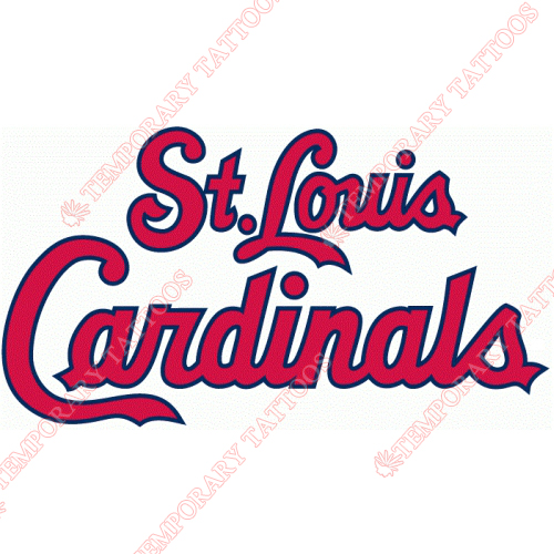 St. Louis Cardinals Customize Temporary Tattoos Stickers NO.1935
