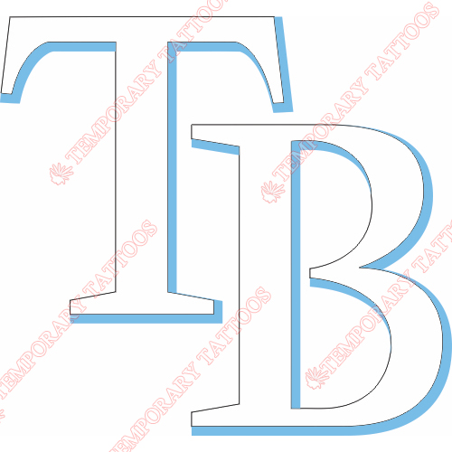 Tampa Bay Rays Customize Temporary Tattoos Stickers NO.1945