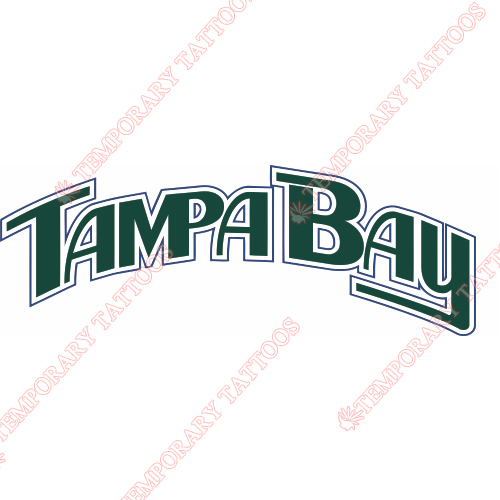 Tampa Bay Rays Customize Temporary Tattoos Stickers NO.1954