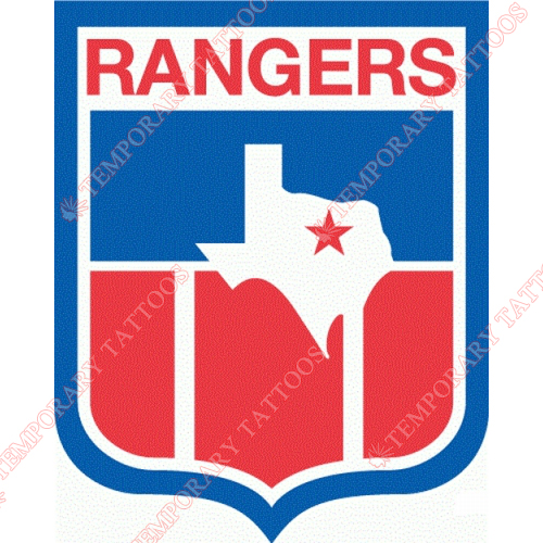 Texas Rangers Customize Temporary Tattoos Stickers NO.1960