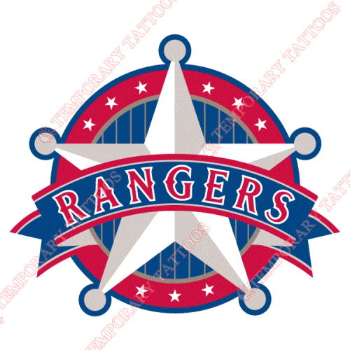 Texas Rangers Customize Temporary Tattoos Stickers NO.1961
