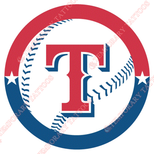 Texas Rangers Customize Temporary Tattoos Stickers NO.1963