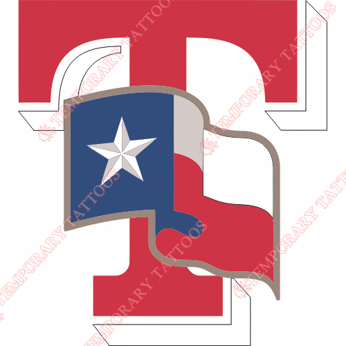 Texas Rangers Customize Temporary Tattoos Stickers NO.1968