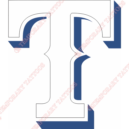 Texas Rangers Customize Temporary Tattoos Stickers NO.1969