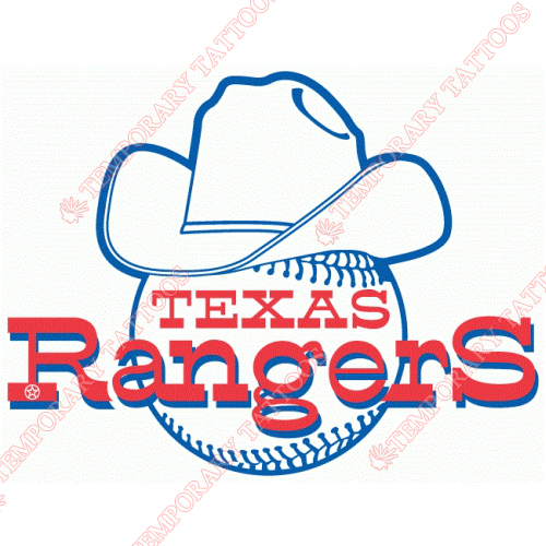 Texas Rangers Customize Temporary Tattoos Stickers NO.1970