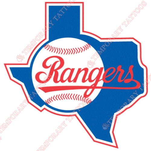 Texas Rangers Customize Temporary Tattoos Stickers NO.1971