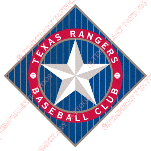 Texas Rangers Customize Temporary Tattoos Stickers NO.1972