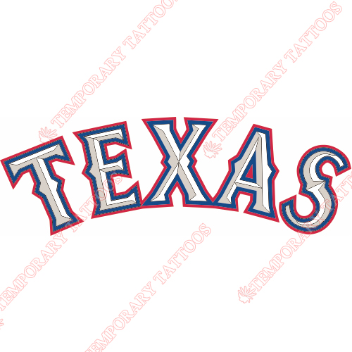 Texas Rangers Customize Temporary Tattoos Stickers NO.1973