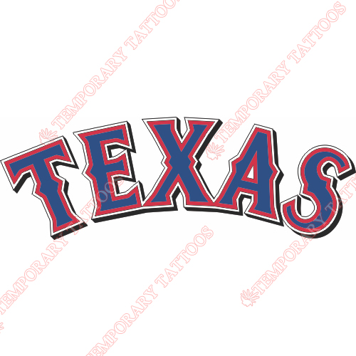 Texas Rangers Customize Temporary Tattoos Stickers NO.1974