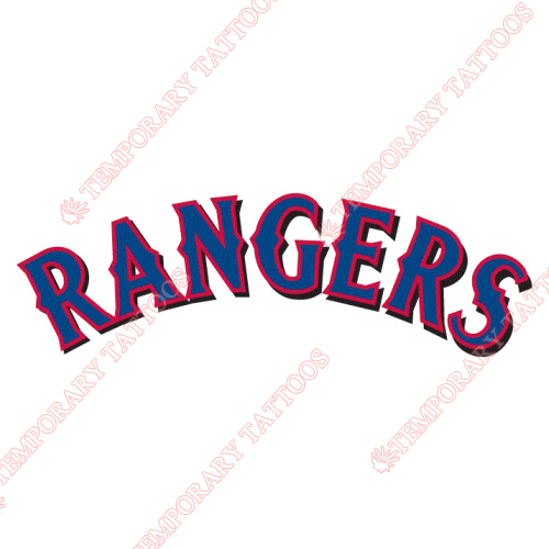 Texas Rangers Customize Temporary Tattoos Stickers NO.1975