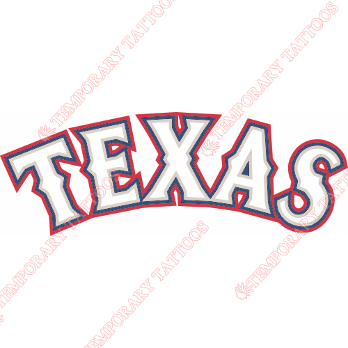 Texas Rangers Customize Temporary Tattoos Stickers NO.1976