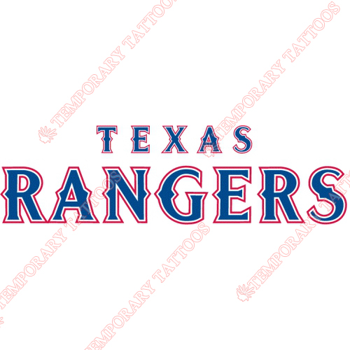 Texas Rangers Customize Temporary Tattoos Stickers NO.1977