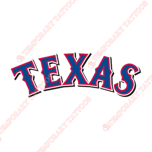 Texas Rangers Customize Temporary Tattoos Stickers NO.1978