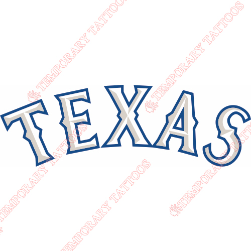 Texas Rangers Customize Temporary Tattoos Stickers NO.1979