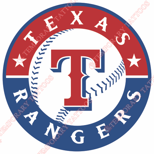 Texas Rangers Customize Temporary Tattoos Stickers NO.1980