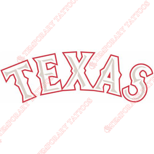 Texas Rangers Customize Temporary Tattoos Stickers NO.1981