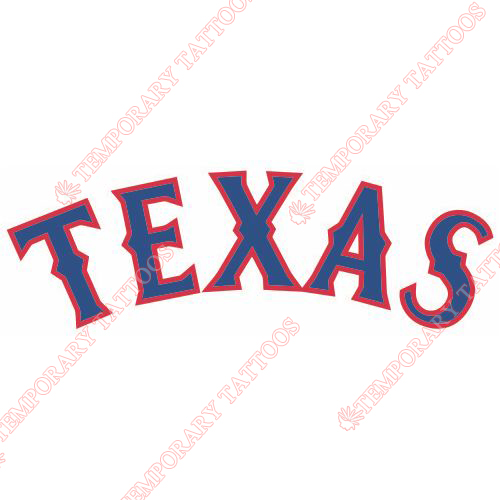 Texas Rangers Customize Temporary Tattoos Stickers NO.1982