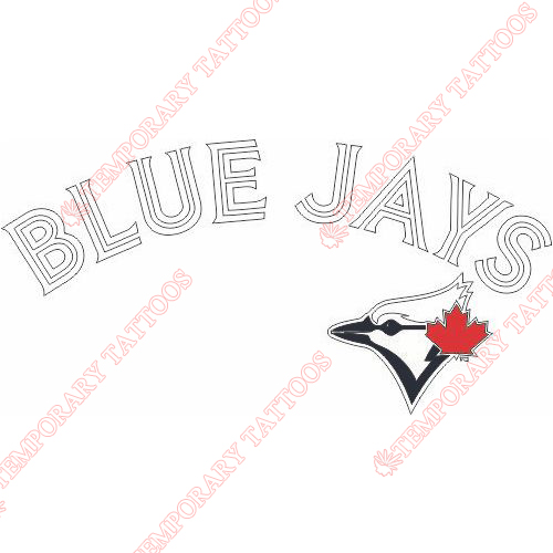 Toronto Blue Jays Customize Temporary Tattoos Stickers NO.2005