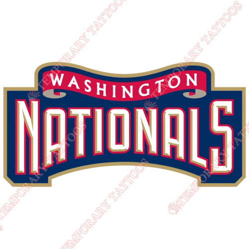 Washington Nationals Customize Temporary Tattoos Stickers NO.2008