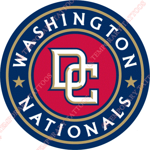 Washington Nationals Customize Temporary Tattoos Stickers NO.2009