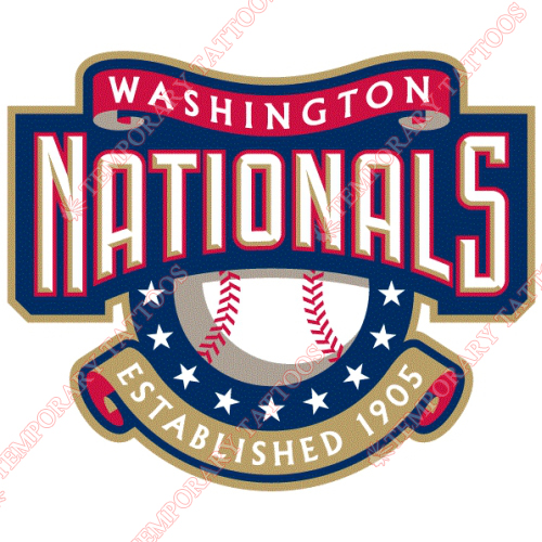 Washington Nationals Customize Temporary Tattoos Stickers NO.2010