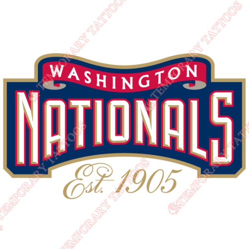 Washington Nationals Customize Temporary Tattoos Stickers NO.2012