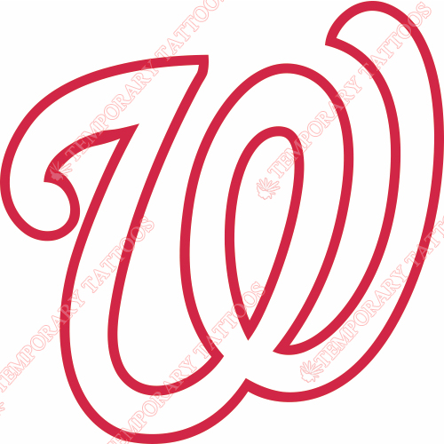 Washington Nationals Customize Temporary Tattoos Stickers NO.2015