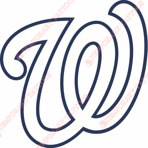 Washington Nationals Customize Temporary Tattoos Stickers NO.2019