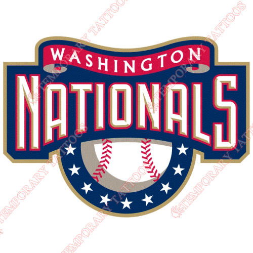 Washington Nationals Customize Temporary Tattoos Stickers NO.2020