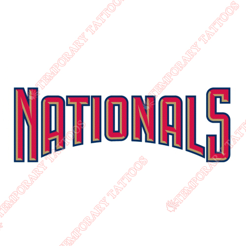 Washington Nationals Customize Temporary Tattoos Stickers NO.2021