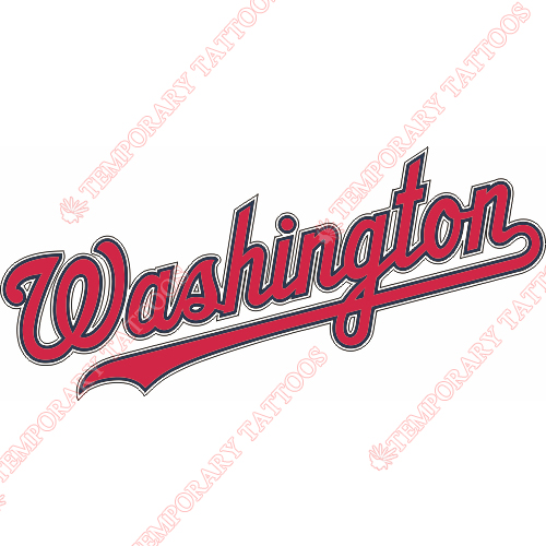 Washington Nationals Customize Temporary Tattoos Stickers NO.2023