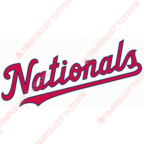 Washington Nationals Customize Temporary Tattoos Stickers NO.2025