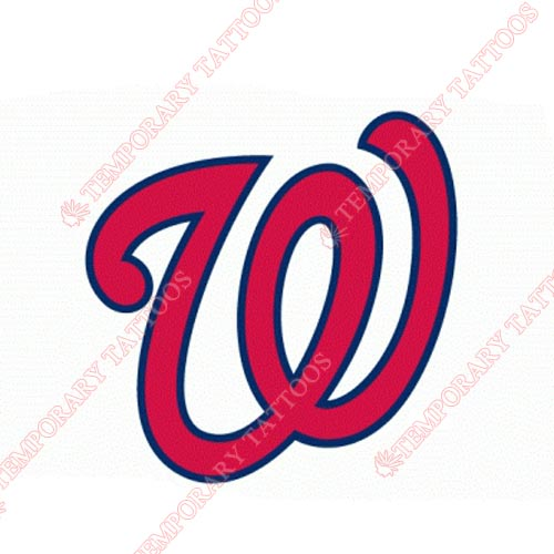 Washington Nationals Customize Temporary Tattoos Stickers NO.2026