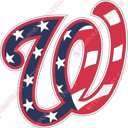 Washington Nationals Customize Temporary Tattoos Stickers NO.2027