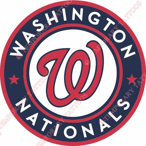 Washington Nationals Customize Temporary Tattoos Stickers NO.2028
