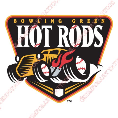 Bowling Green Hot Rods Customize Temporary Tattoos Stickers NO.8070