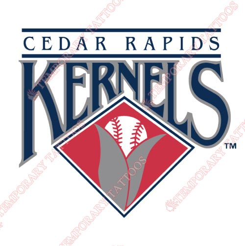 Cedar Rapids Kernels Customize Temporary Tattoos Stickers NO.8085