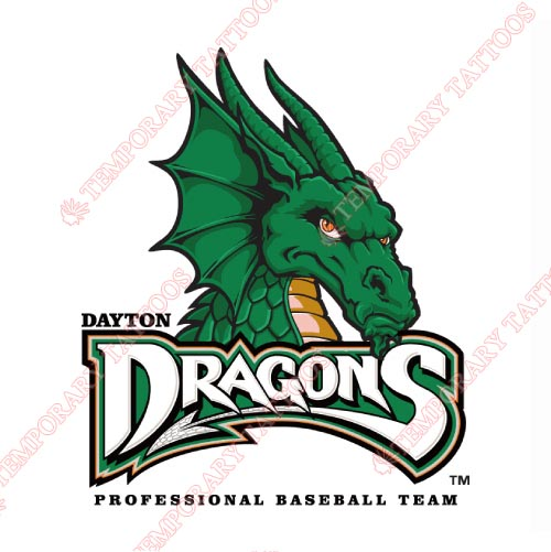 Dayton Dragons Customize Temporary Tattoos Stickers NO.8096