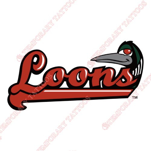 Great Lakes Loons Customize Temporary Tattoos Stickers NO.8104