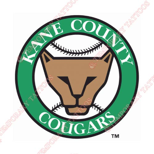 Kane County Cougars Customize Temporary Tattoos Stickers NO.8106