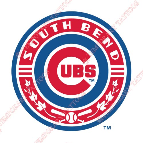 South Bend Cubs Customize Temporary Tattoos Stickers NO.8132