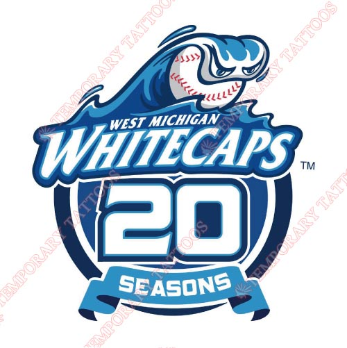 West Michigan Whitecaps Customize Temporary Tattoos Stickers NO.8136