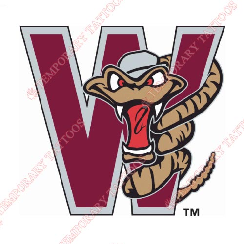 Wisconsin Timber Rattlers Customize Temporary Tattoos Stickers NO.8139