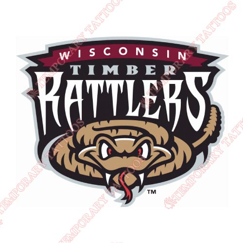 Wisconsin Timber Rattlers Customize Temporary Tattoos Stickers NO.8142