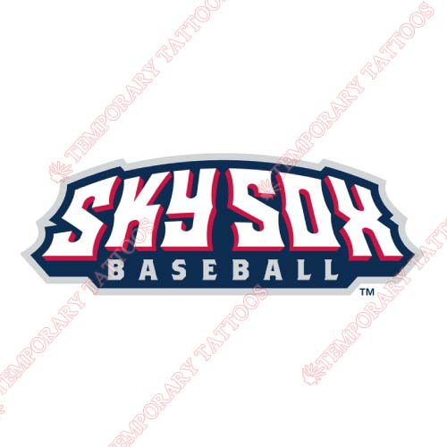 Colorado Springs Sky Sox Customize Temporary Tattoos Stickers NO.8144