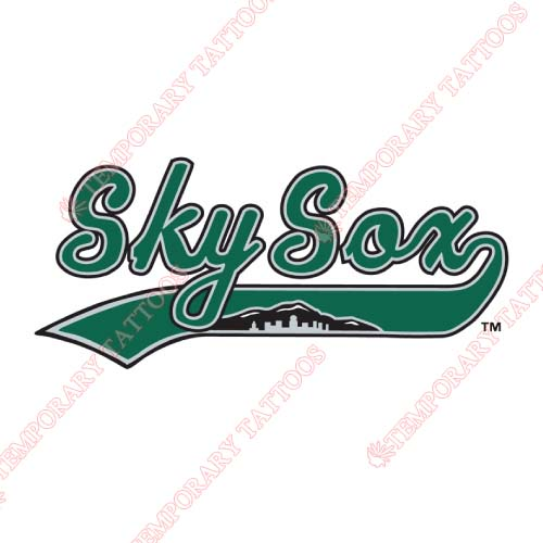 Colorado Springs Sky Sox Customize Temporary Tattoos Stickers NO.8147