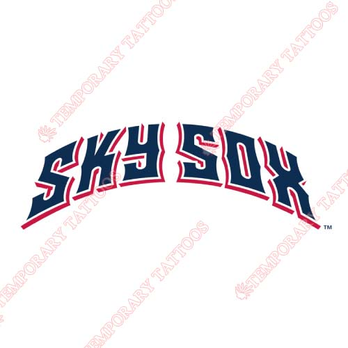 Colorado Springs Sky Sox Customize Temporary Tattoos Stickers NO.8148